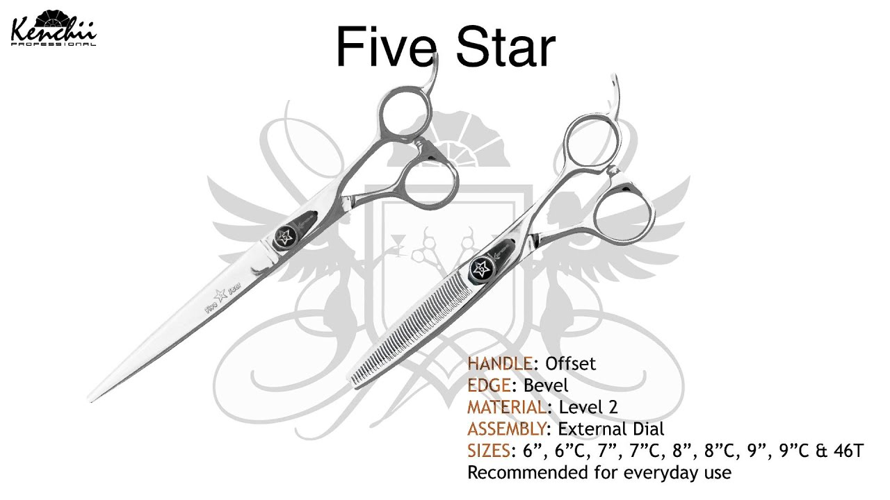 Offset Handle Grooming Shears | 5 Star by Kenchii