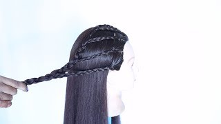 new unique hairstyle in 3 ways for open hair || hairstyles for girls || cute hairstyles || hairstyle