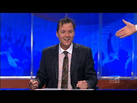 The Footy Show (AFL): Sam Newman dumps water on James Brayshaw (11/4/2013)