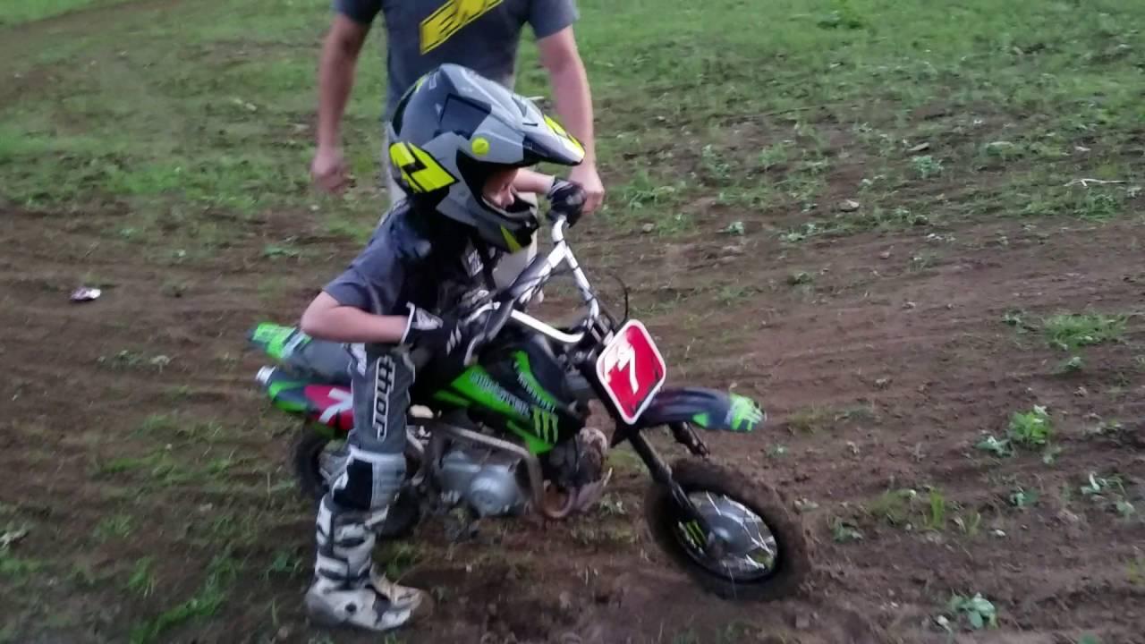Little Kids Riding Dirt Bike - YouTube