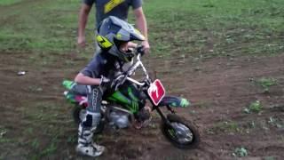 Little Kids Riding Dirt Bike