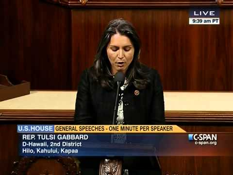 Rep. Tulsi Gabbard Delivers Speech Supporting Philippines Recovery Efforts