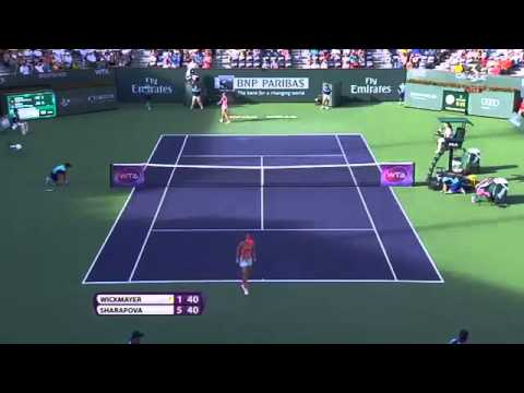 Maria Sharapova vs Yanina Wickmayer Highlights Indian Wells 2015