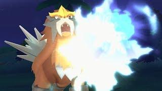 Pokemon Ultra Sun and Ultra Moon Wi-Fi Battle: Entei Spits Fire! (1080p)