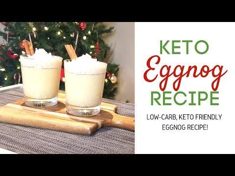 KETO RECIPES | How to Make Low Carb Eggnog, Keto Eggnog Recipe