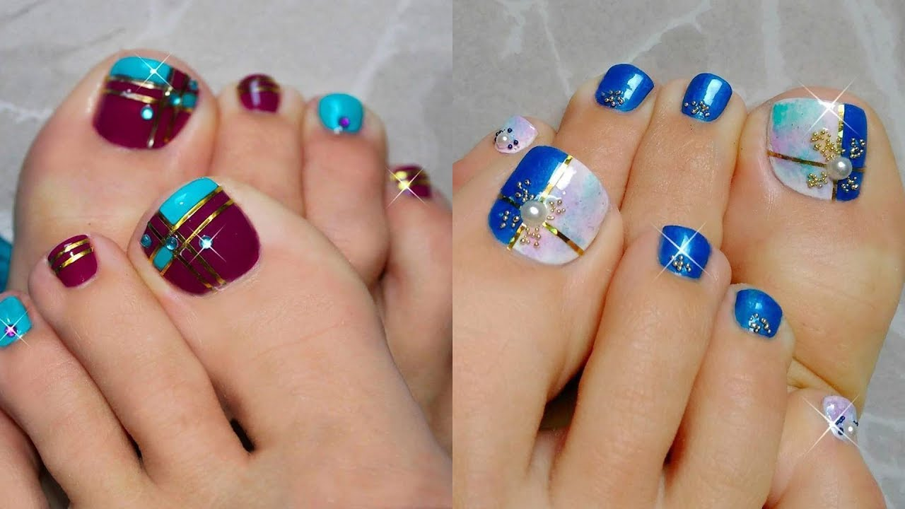 CUTE & EASY TOENAIL ART DESIGN COMPILATION | BEST NAIL ART DESIGN ...