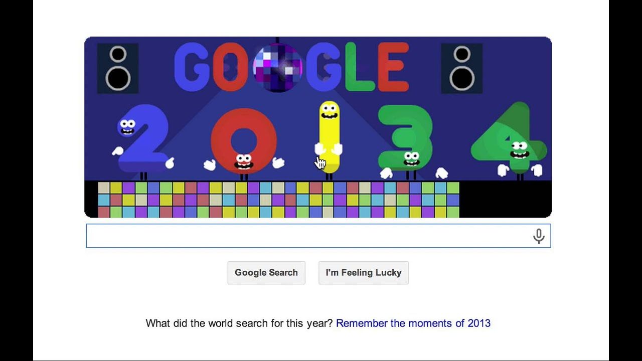 google happy new year 2014 doodle