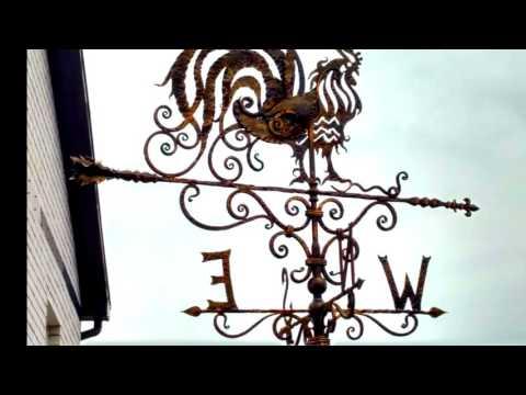 Контур петуха для флюгера пример