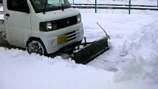 Repeat youtube video 軽トラック用スノープラウ 除雪作業 2