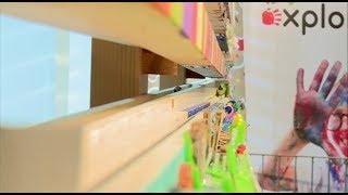 Längste Kugelbahn der Welt im Explorado Kindermuseum