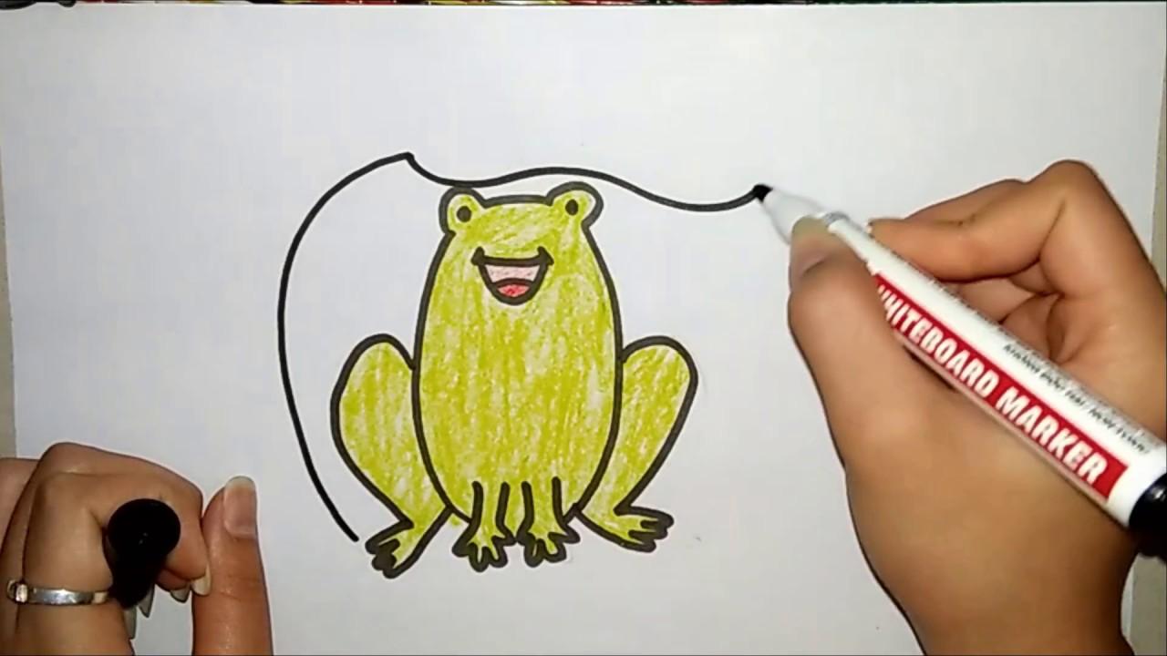 hướng dẫn vẽ con ếch- vẽ tranh cùng cô giáo như