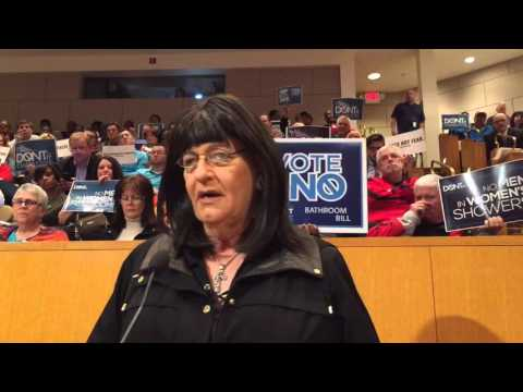 People speak during public forum on discrimination ordinance