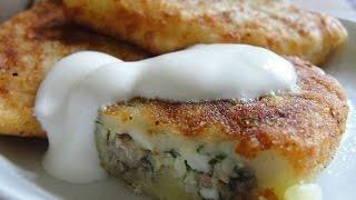 zrazy potato with fish Зразы картофельные с рыбой