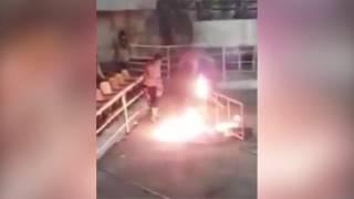 Рестлер едва не сгорел заживо во время шоу в Мексике
