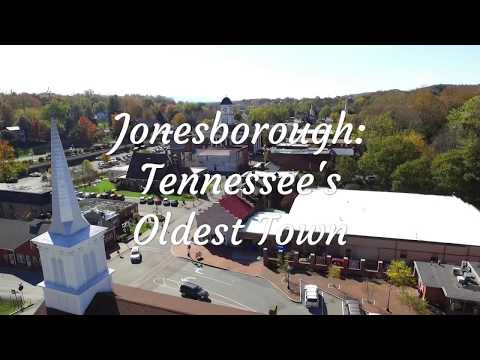 Fall day in downtown Jonesborough, Tennessee