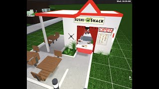 ROBLOX | BLOXBURG | Sushi Shack bar restaurant shop Speedbuild Food Roleplay