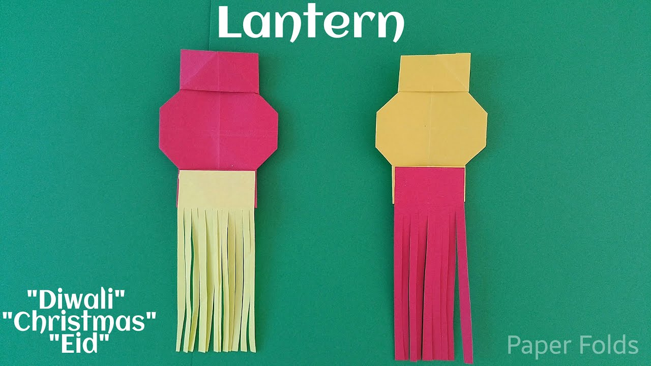 Simple Lantern 🏮 Lamp for (Diwali / Christmas / Eid ) - DIY ... for Diwali Lamp Craft  131fsj
