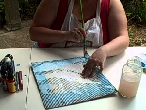 Creating an Airbrushed Effect on Zutter Corrugated Board