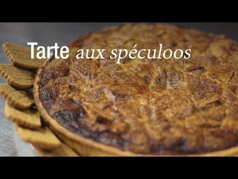 Tarte aux spéculoos - Recette de Chef : CuisineAZ