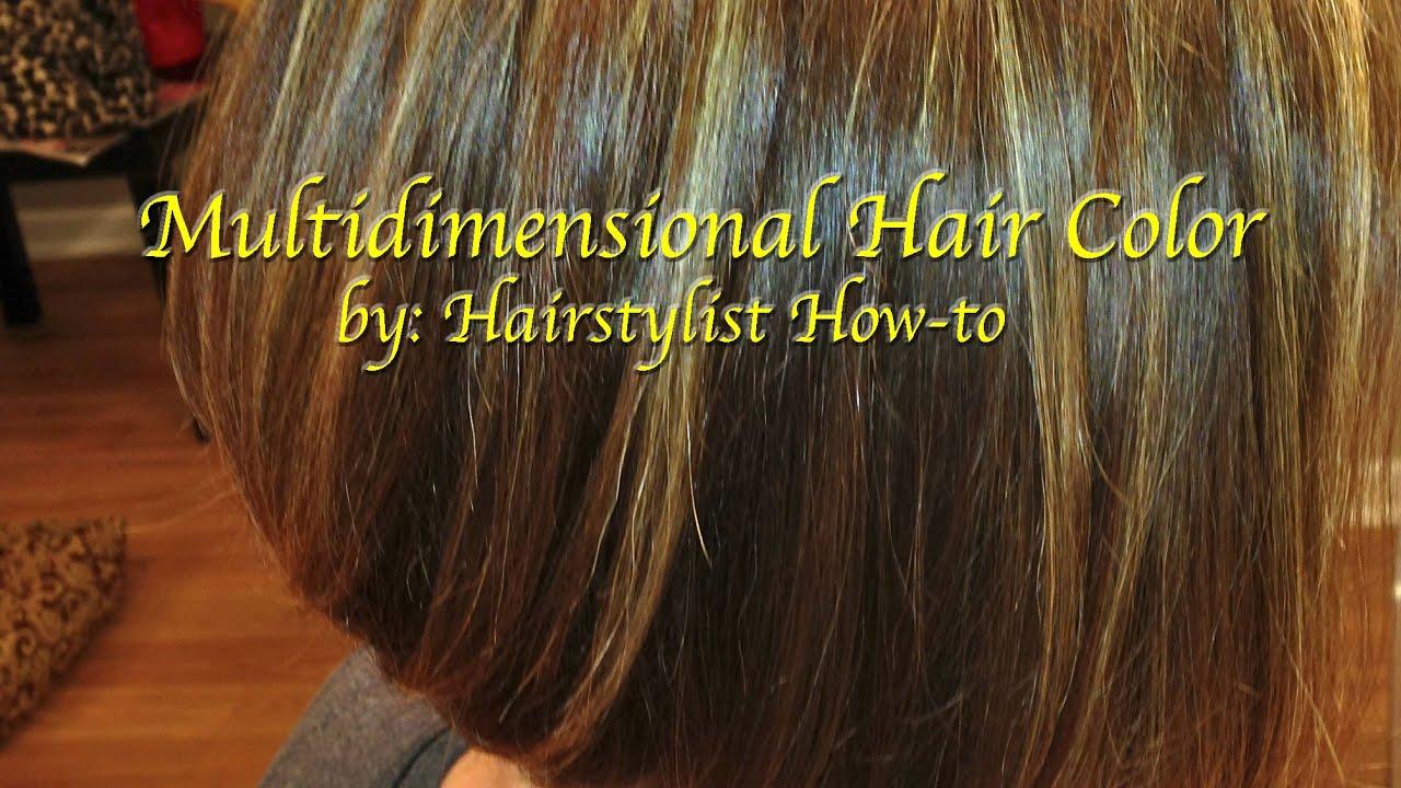 Multidimensional Hair Color Paint Base Color In Between Foils Hair