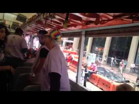 Getting On SF Bay Times Bus For Pride Parade - Zennie62