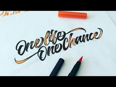 Best Brush Pen Calligraphy Compilation 2016 Youtube