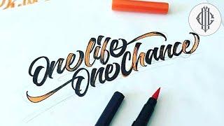 Best Brush Pen Calligraphy Compilation 2016