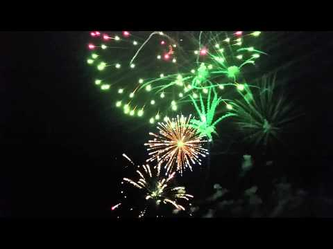 Fireworks that were recorded at 8x speed