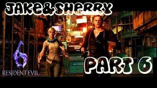 """Resident Evil 6 Jake & Sherry Часть 6 """"Лабораторные крысы"""""""