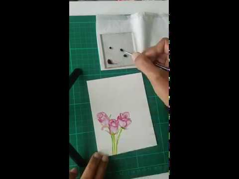 How To Color Rose Buds By CrafTangles