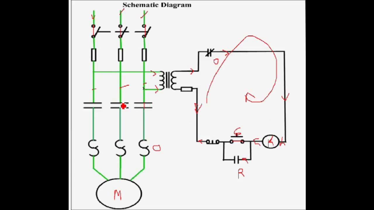 dol starter direct online starter working diagram of direct online starter  [ 1280 x 720 Pixel ]