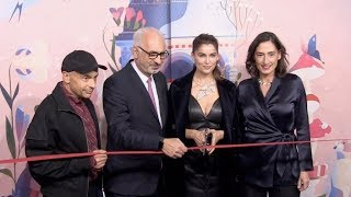 Laetitia Casta and more unveiling the new Christmas Printemps Window displays in Paris