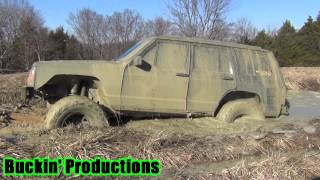 DUSTIN IN NATE'S XJ TRYING OUT THE NEW MOTOR ON THE RIDGE 1-19-14