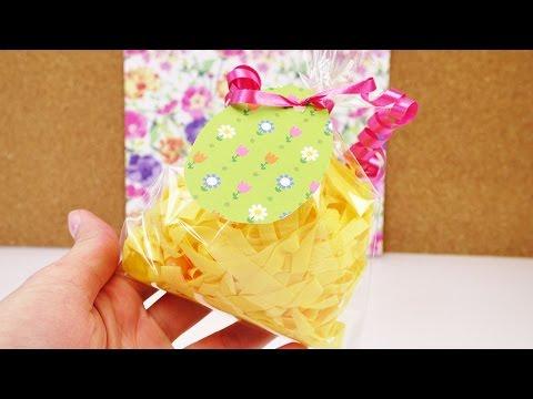 Oster Geschenk mit Jelly Beans | Kleine Überraschungstüte mit Ostergras selbst machen | Kinder