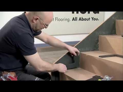 Накладки на ступени из ковролина - YouTube