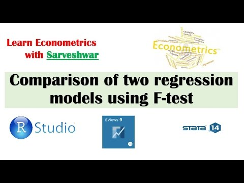 Using F test to compare two regresion models