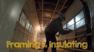 Skoolie Bus Conversion Ep 9 - Framing and Insulation