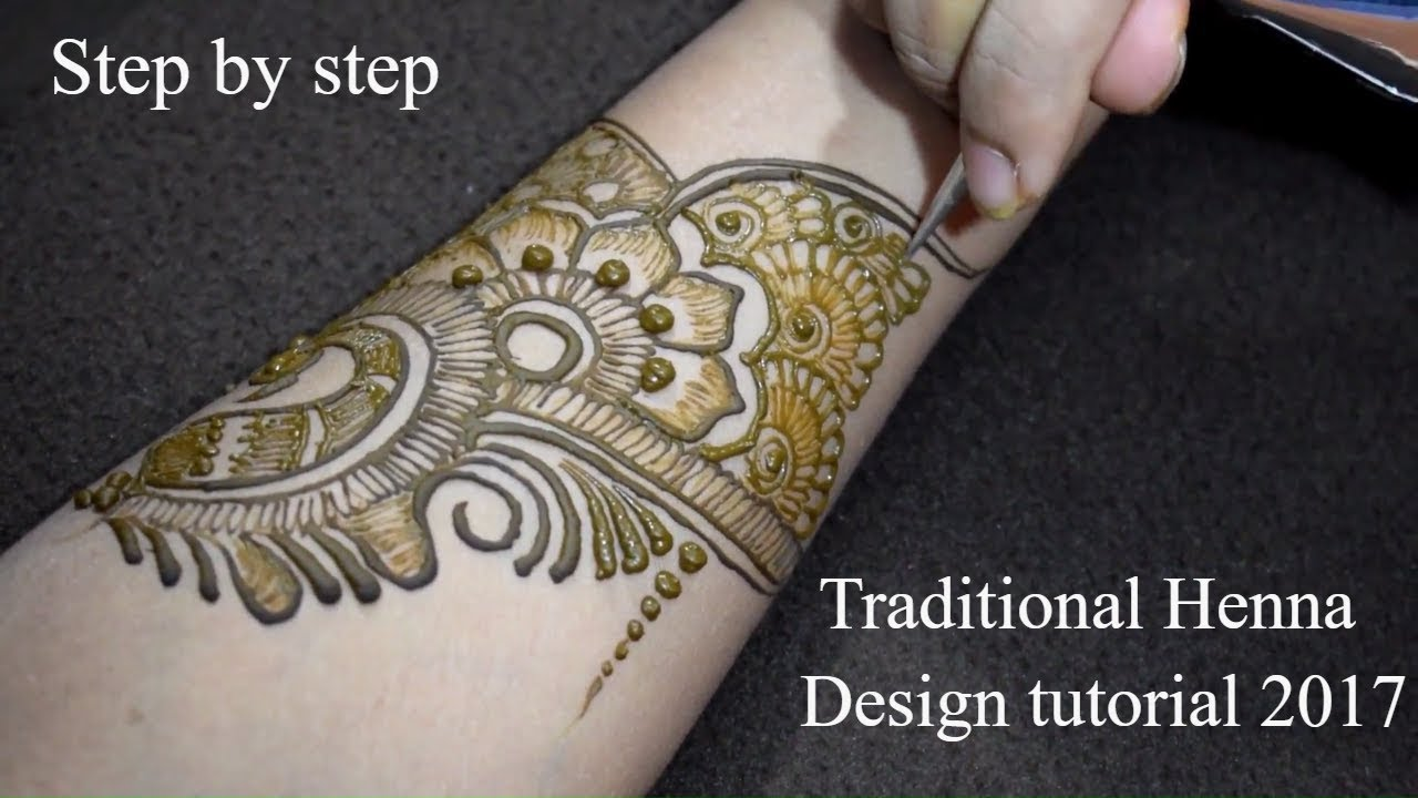 Henna Or Mehndi : Traditional bridal full hand henna or mehndi design ☆ step by