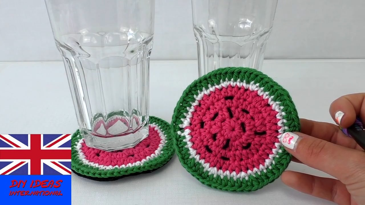 crochet coaster for beginners - how to crochet a ...