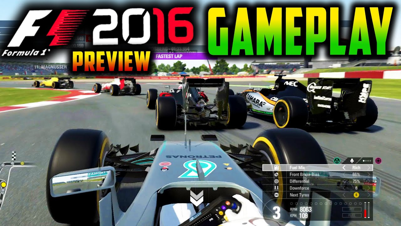 f1 2016 ps4 gameplay silverstone race f1 2016 direct. Black Bedroom Furniture Sets. Home Design Ideas