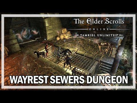 The Elder Scrolls Online - Wayrest Sewers Dungeon - Let's Play Gameplay
