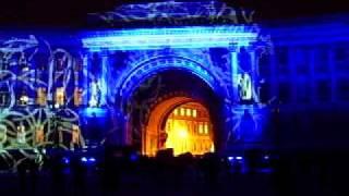 Лазерное шоу на Дворцовой площади 2011 год.AVI