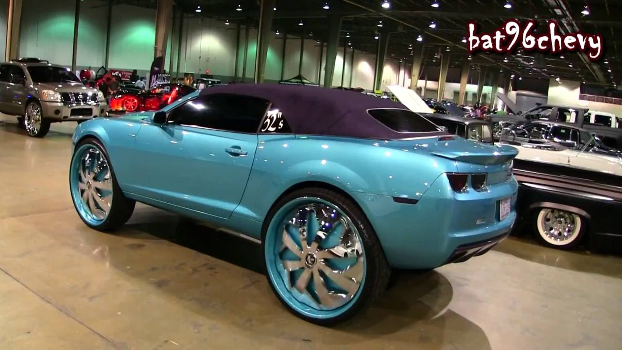 Charlotte Hornets Camaro Lifted On 32 Quot Dub Parlay Spinners