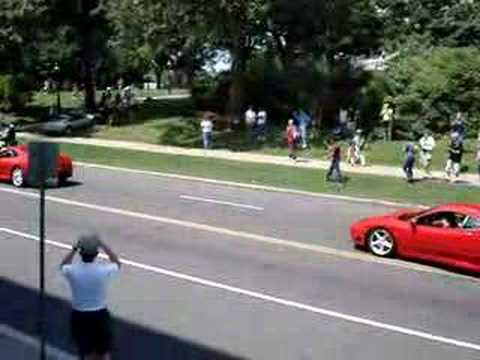 Father Saves Kids From Ferrari Crash