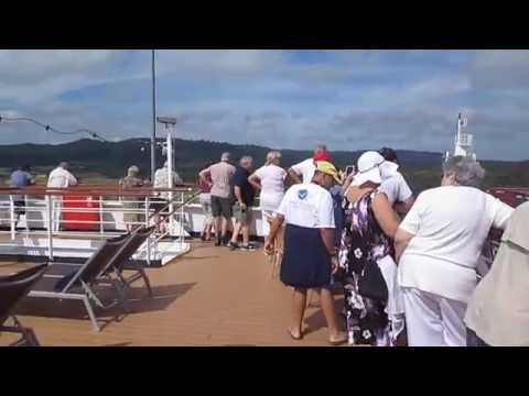 Onboard ms Veendam during Panama Canal transit.  Oct 25, 2015