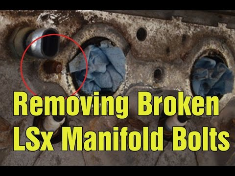how to remove broken manifold bolts from an lsx youtube. Black Bedroom Furniture Sets. Home Design Ideas