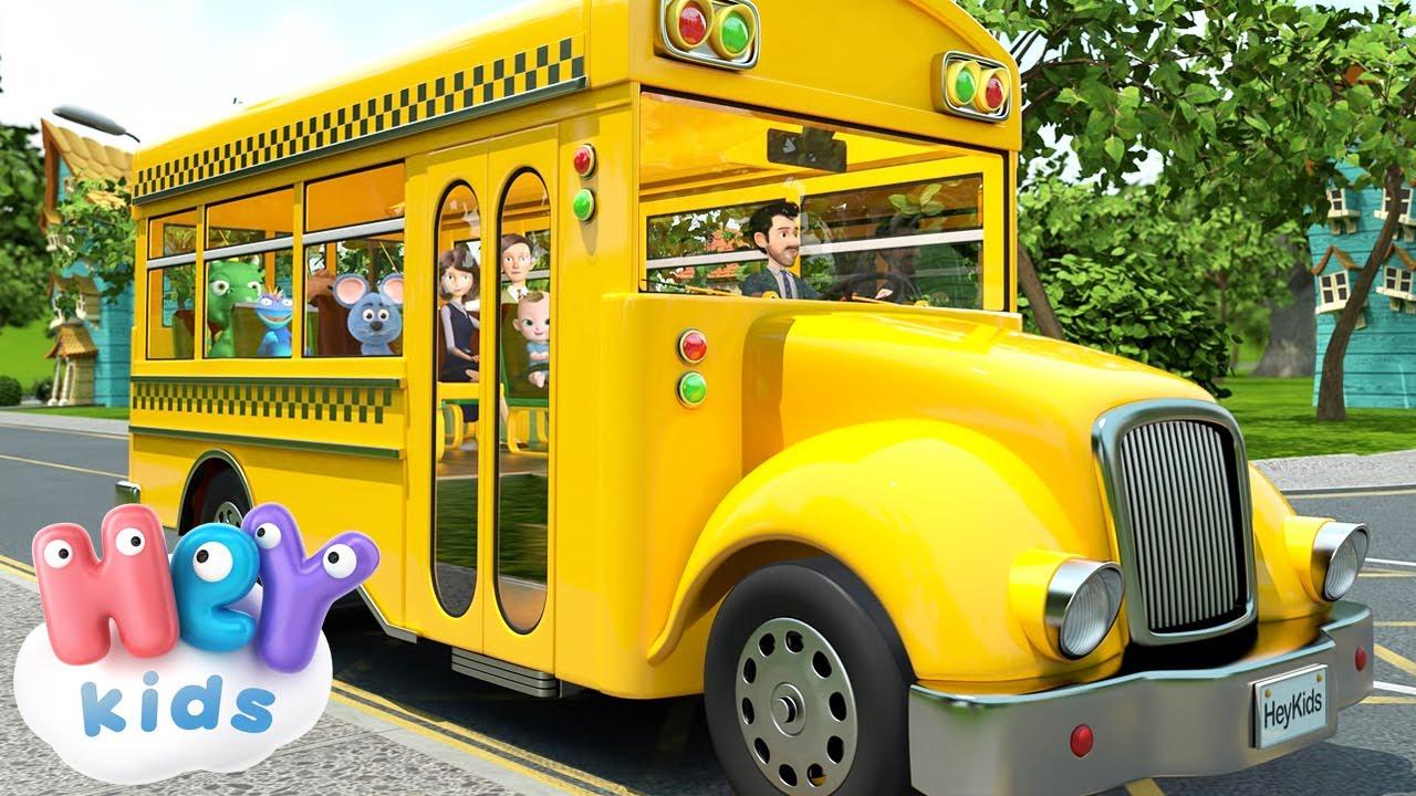 Las Ruedas del Autobús 🚌 Canciones infantiles en Español - HeyKids