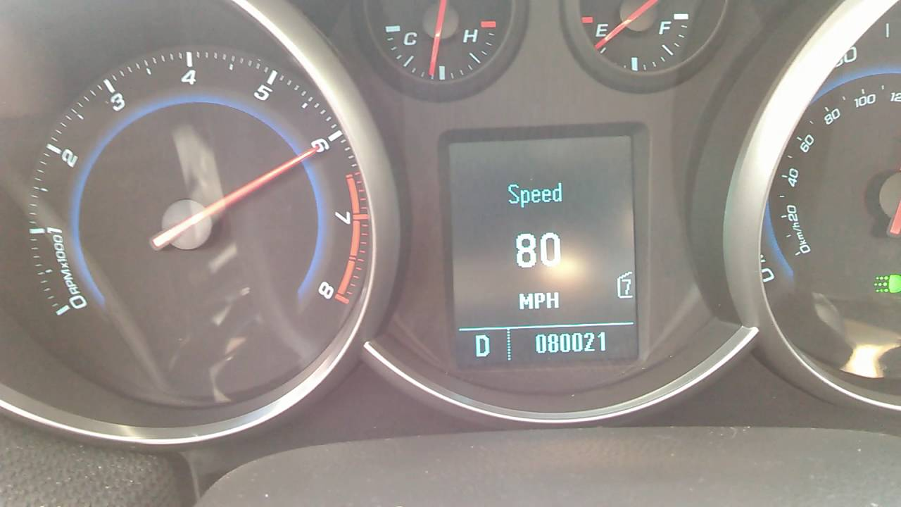 2011 Chevy Cruze Top Speed - YouTube