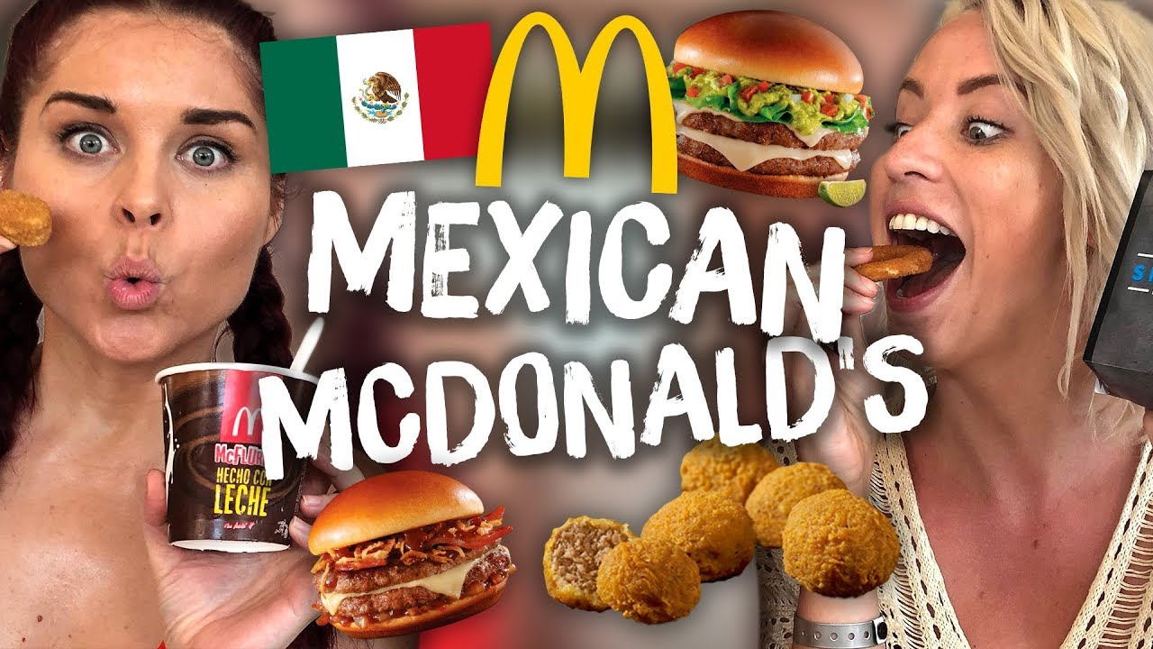 Americans Try Mexican McDonald's for the First Time!