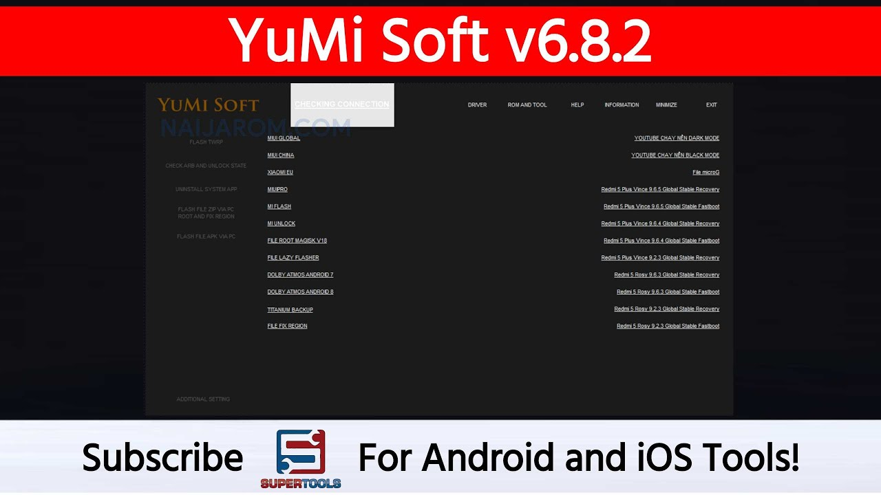 YuMi Soft v6 8 2 - Best Tool To Repair Android Devices